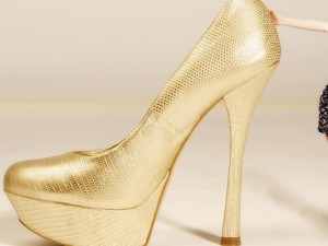 Goldene High Heels