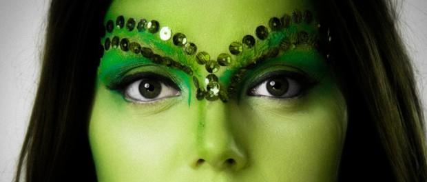Make-up in Grüntönen