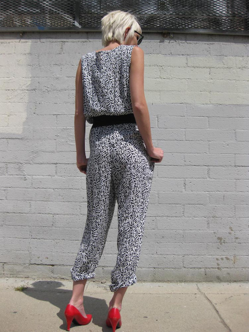 Jumpsuit im Animalprint
