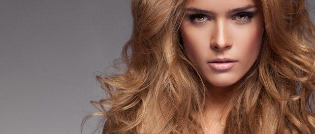 Blonde Haarmähne