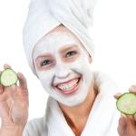 Feuchtigkeitsspendende Gesichtsmaske mit Gurke