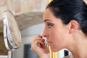 Miroir cosmétique avec-Staender