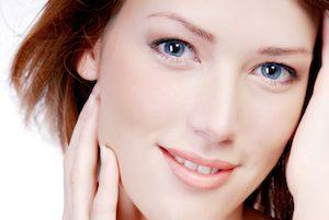 Perfekte Haut nach Mikrodermabrasion Behandlung